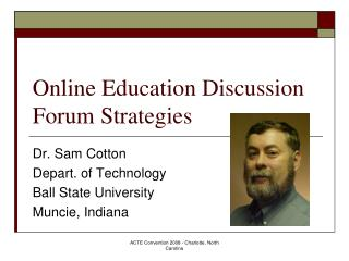 Online Education Discussion Forum Strategies