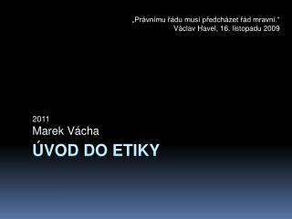 Úvod do etiky