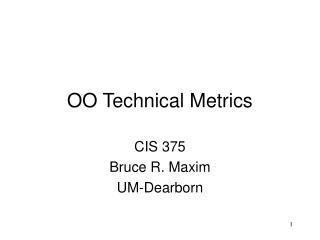 OO Technical Metrics