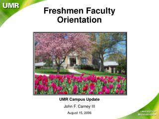 Freshmen Faculty Orientation