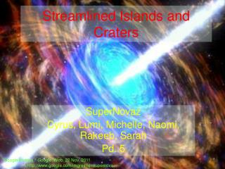 Streamlined Islands and Craters