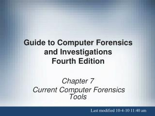 Guide to Computer Forensics and Investigations Fourth Edition