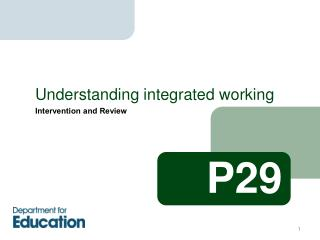 Understanding integrated working