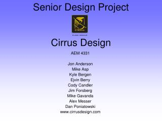 Senior Design Project Cirrus Design
