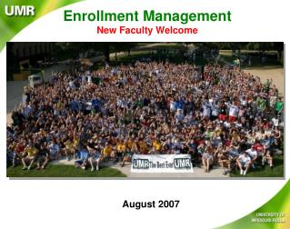 Enrollment Management New Faculty Welcome