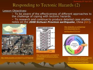 Responding to Tectonic Hazards (2)
