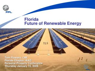 Florida Future of Renewable Energy