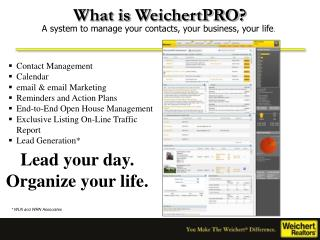 What is  WeichertPRO ?