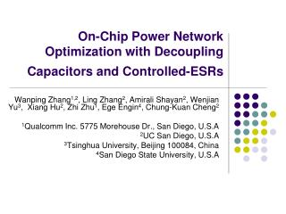 On-Chip Power Network Optimization with Decoupling Capacitors and Controlled-ESRs