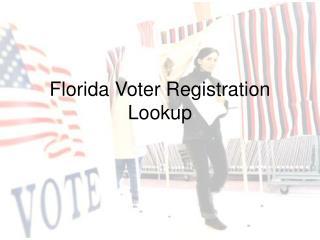 Florida Voter Registration Lookup