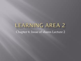 Learning Area 2