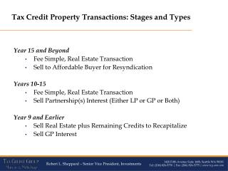 Year  15 and Beyond Fee Simple, Real Estate Transaction