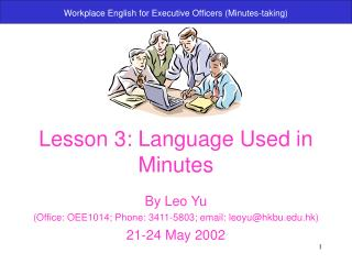 Lesson 3: Language Used in Minutes