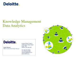 Knowledge Management Data Analytics