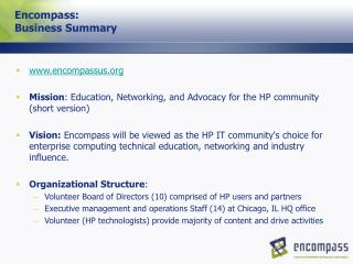 Encompass: Business Summary