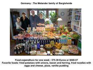 Germany : The Melander family of Bargteheide