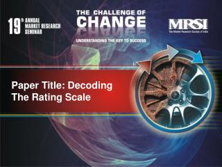 Paper Title: Decoding The Rating Scale