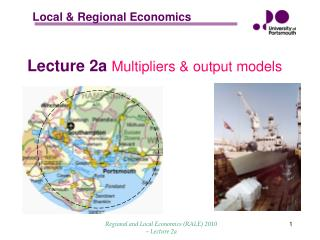 Lecture 2a  Multipliers & output models