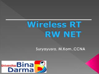 Wireless RT RW NET
