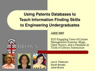 Using Patents Databases to Teach Information Finding Skills to Engineering Undergraduates
