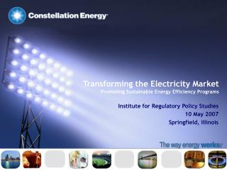 Transforming the Electricity Market Promoting Sustainable Energy Efficiency Programs