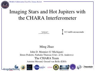 Imaging Stars and Hot Jupiters with the CHARA Interferometer