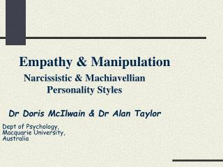 Empathy & Manipulation