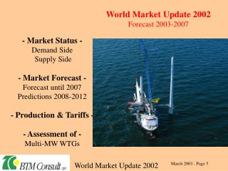 - Market Status - Demand Side  Supply Side - Market Forecast - Forecast until 2007