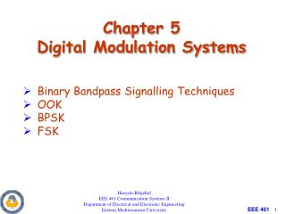 Chapter 5 Digital Modulation Systems