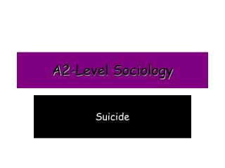 A2-Level Sociology