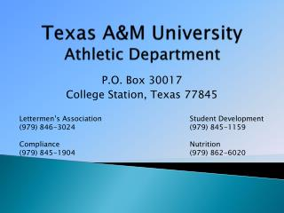 Texas A&M University Athletic Department