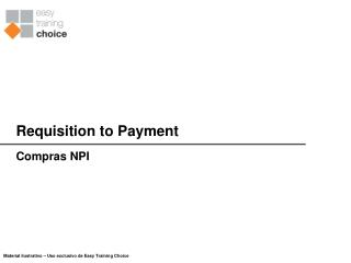 Requisition to Payment