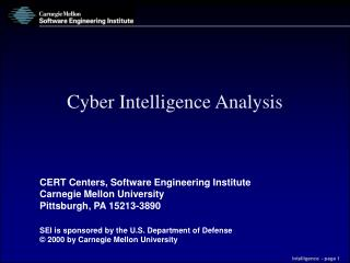 Cyber Intelligence Analysis
