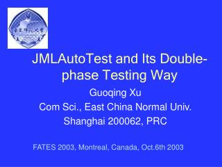 JMLAutoTest and Its Double-phase Testing Way