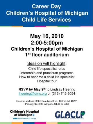 Career Day  Children's Hospital of Michigan Child Life Services