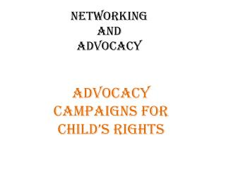 NETWORKING  AND  ADVOCACY