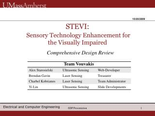 STEVI: Sensory Technology Enhancement for the Visually Impaired