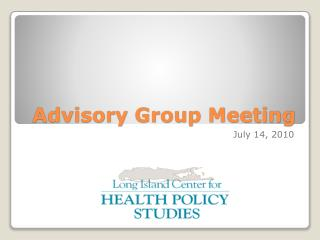 Advisory Group Meeting