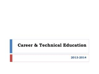 Career & Technical Education