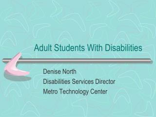 Adult Students With Disabilities