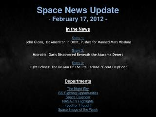 Space News Update  February 17, 2012 -
