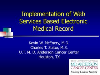 Implementation of Web Services Based Electronic Medical Record