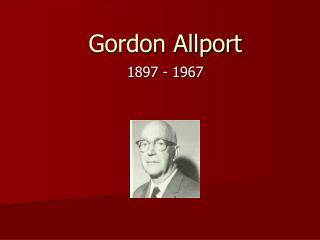 Gordon Allport