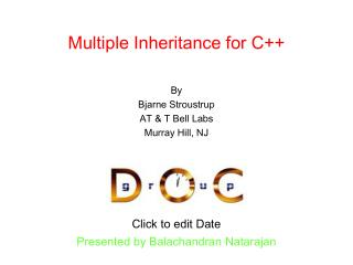 Multiple Inheritance for C++