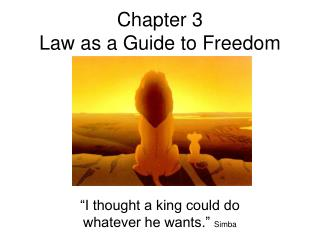 Chapter 3 Law as a Guide to Freedom