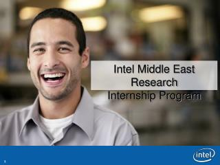 Intel Middle East Research  Internship Program