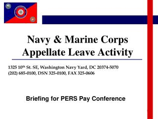 Navy & Marine Corps  Appellate Leave Activity