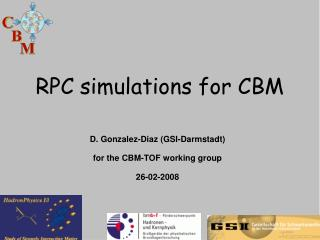 RPC simulations for CBM