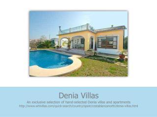 Villas in Denia