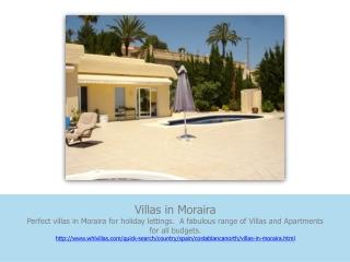 villas in moraira